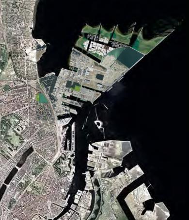 Nordhavn med konkurrenceforslget og Nordhavnsstubben